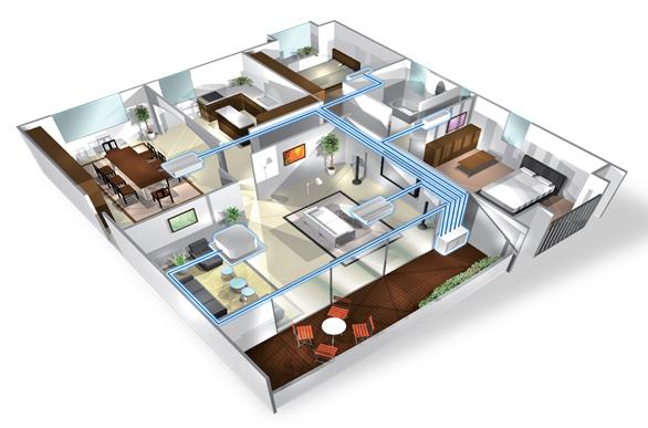 Giải pháp điều hòa cho căn hộ chung cư